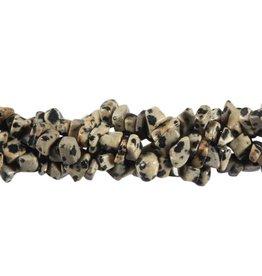 Jaspis (dalmatier) splitsnoer 90 cm