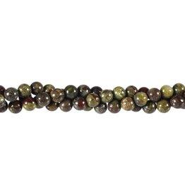 Jaspis (drakenbloed) kralen rond 6 mm (snoer van 40 cm)