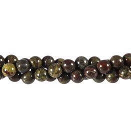 Jaspis (drakenbloed) kralen rond 8 mm (snoer van 40 cm)