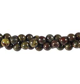 Jaspis (drakenbloed) kralen rond 8 mm (streng van 40 cm)