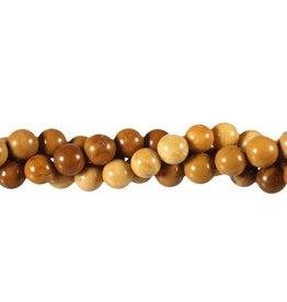 Jaspis (geel) kralen rond 8 mm (snoer van 40 cm)
