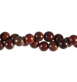 Jaspis (breccie) kralen rond 10 mm (snoer van 40 cm)