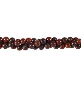 Jaspis (breccie) kralen rond 6 mm (snoer van 40 cm)
