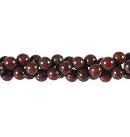 Jaspis (breccie) kralen rond 8 mm (snoer van 40 cm)