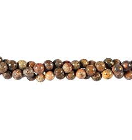 Jaspis (luipaard) kralen rond 6 mm (snoer van 40 cm)