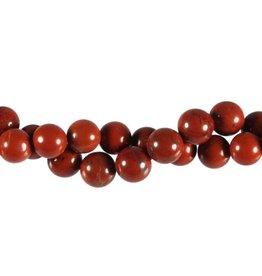 Jaspis (rood) kralen rond 10 mm (streng van 40 cm)
