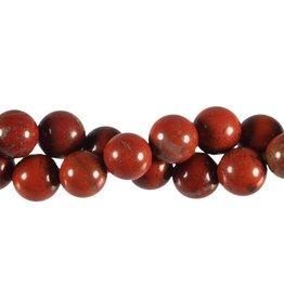 Jaspis (rood) kralen rond 12 mm (snoer van 40 cm)