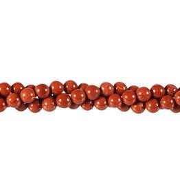 Jaspis (rood) kralen rond 6 mm (streng van 40 cm)