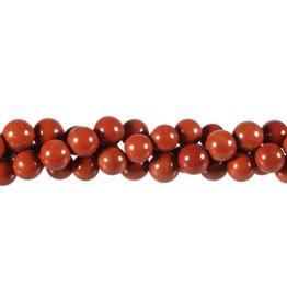 Jaspis (rood) kralen rond 8 mm (streng van 40 cm)