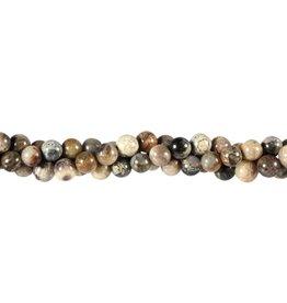Jaspis (zilverblad) kralen rond 6 mm (snoer van 40 cm)