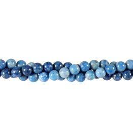 Lapis lazuli (denim) kralen rond 6 mm (snoer van 40 cm)