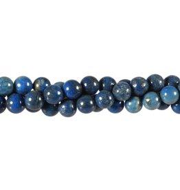 Lapis lazuli (denim) kralen rond 8 mm (snoer van 40 cm)