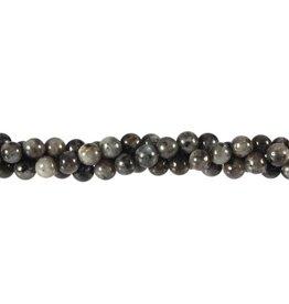 Larvikiet kralen rond 6 mm (streng van 40 cm)