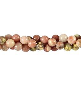 Lepidoliet (roze) kralen rond 8 mm (snoer van 40 cm)