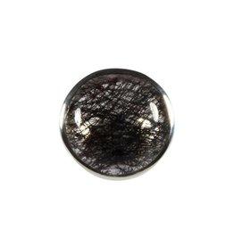 Zilveren ring toermalijnkwarts maat 19 | rond 2,6 cm