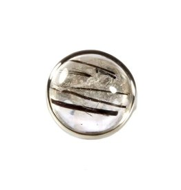 Zilveren ring toermalijnkwarts maat 17 1/4 | rond 1,8 cm