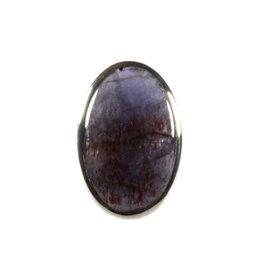 Zilveren ring sterrensteen maat 18 1/2 | ovaal 3 x 2 cm