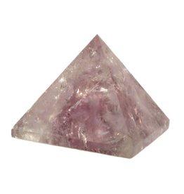 Amethist edelsteen piramide 3,5 - 4 cm