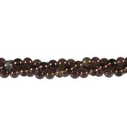 Obsidiaan (apachetranen) kralen rond 6 mm (snoer van 40 cm)