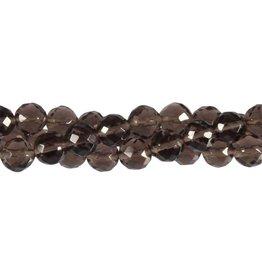 Obsidiaan (apachetranen) kralen rond facet 8 mm (snoer van 40 cm)