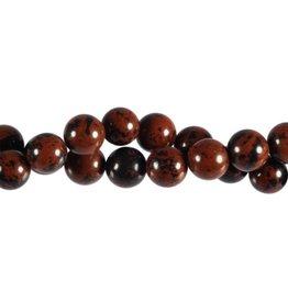 Obsidiaan (mahonie) kralen rond 10 mm (streng van 40 cm)