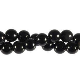 Obsidiaan (regenboog) kralen rond 12 mm (streng van 40 cm)