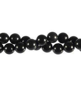 Obsidiaan (zwart) kralen rond 10 mm (snoer van 40 cm)
