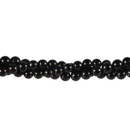 Obsidiaan (zwart) kralen rond 6 mm (snoer van 40 cm)
