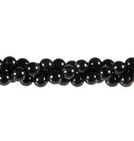 Obsidiaan (zwart) kralen rond 8 mm (streng van 40 cm)