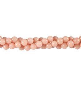 Opaal (Andes) roze kralen rond 6 mm (snoer van 40 cm)