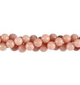 Opaal (Andes) roze kralen rond 8 mm (snoer van 40 cm)