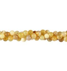 Opaal (honing) kralen rond 6 mm (snoer van 40 cm)