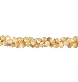 Parelmoer kralen rond 5,5 - 6 mm (snoer van 40 cm)