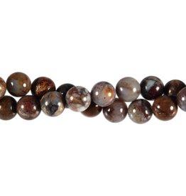 Pietersiet kralen rond 10 mm (streng van 40 cm)