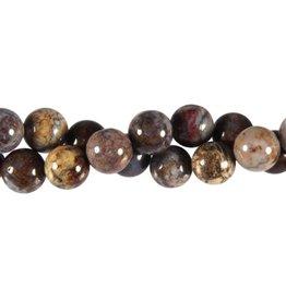Pietersiet kralen rond 12 mm (streng van 40 cm)