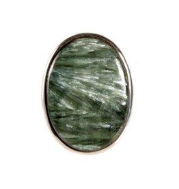 Zilveren ring serafiniet maat 18 1/2 | ovaal 2,8 x 2 cm