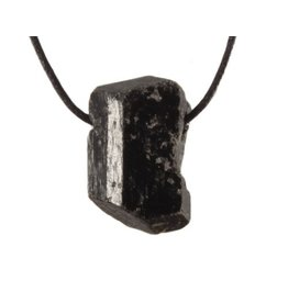 Toermalijn (zwart) hanger kristal doorboord