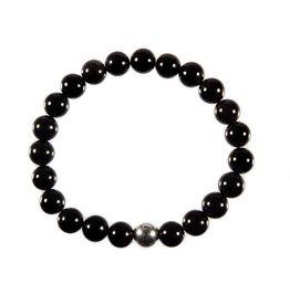 Toermalijn (zwart) armband 18 cm | 8 mm kralen