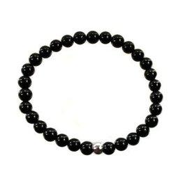 Toermalijn (zwart) armband 15 cm | 6 mm kralen