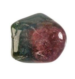 Toermalijn (roze met groen) steen getrommeld 1 - 2 gram