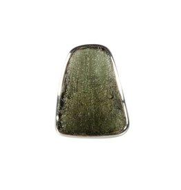 Zilveren ring moldaviet maat 18 3/4 | trapezium 2,7 x 1,8 cm