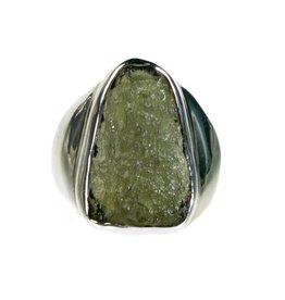 Zilveren ring moldaviet maat 18 1/4 | driehoek