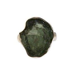 Zilveren ring moldaviet maat 16 1/2 | 1,8 x 1,4 cm