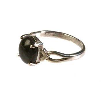 Zilveren ring master shamanite maat 18 | cabochon
