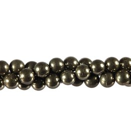 Pyriet kralen rond 8 mm (snoer van 40 cm)