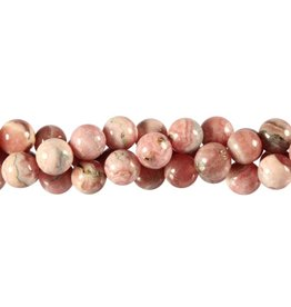 Rhodochrosiet kralen rond 8 mm (snoer van 40 cm)