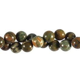Rhyoliet kralen rond 12 mm (snoer van 40 cm)