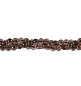 Rookkwarts kralen rond 6 mm (snoer van 40 cm)