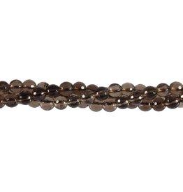 Rookkwarts kralen rond facet 6 mm (snoer van 40 cm)