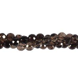 Rookkwarts kralen rond facet 8 mm (snoer van 40 cm)